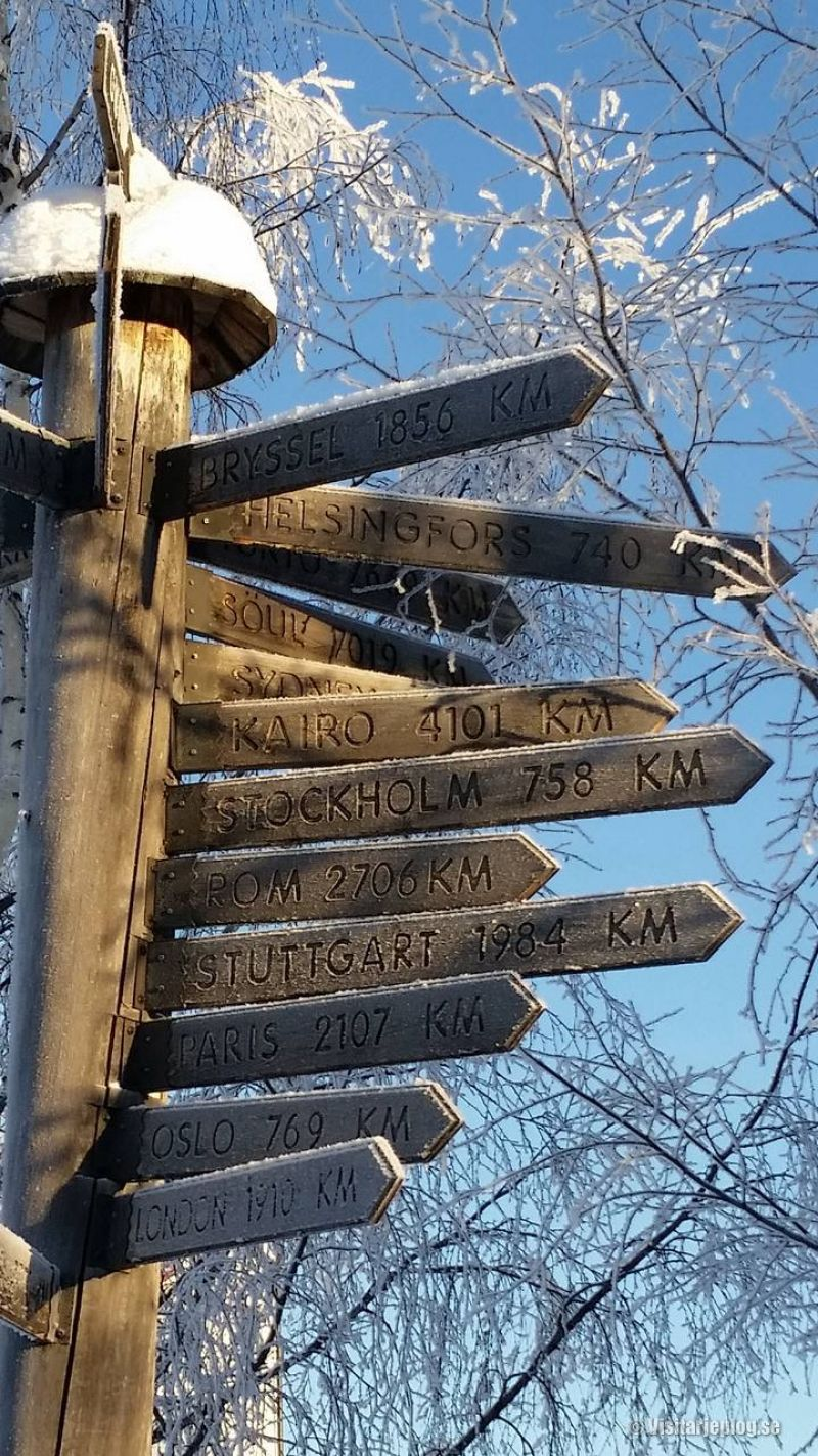 Distances from Arjeplog