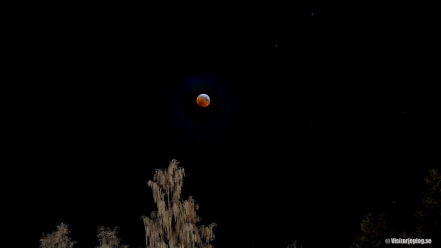 Total lunar eclipse or Blood moon as it's also called
